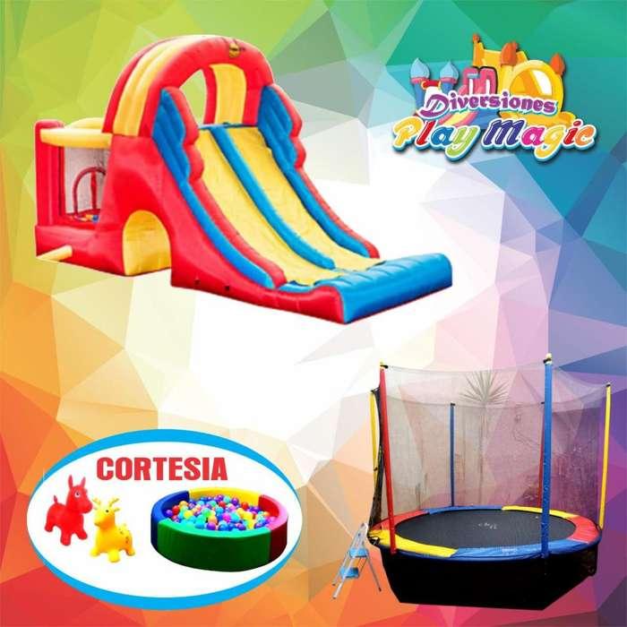 Alquiler Juegos inflables y cama saltarin, mesa de Fulbito, piscina con pelotas