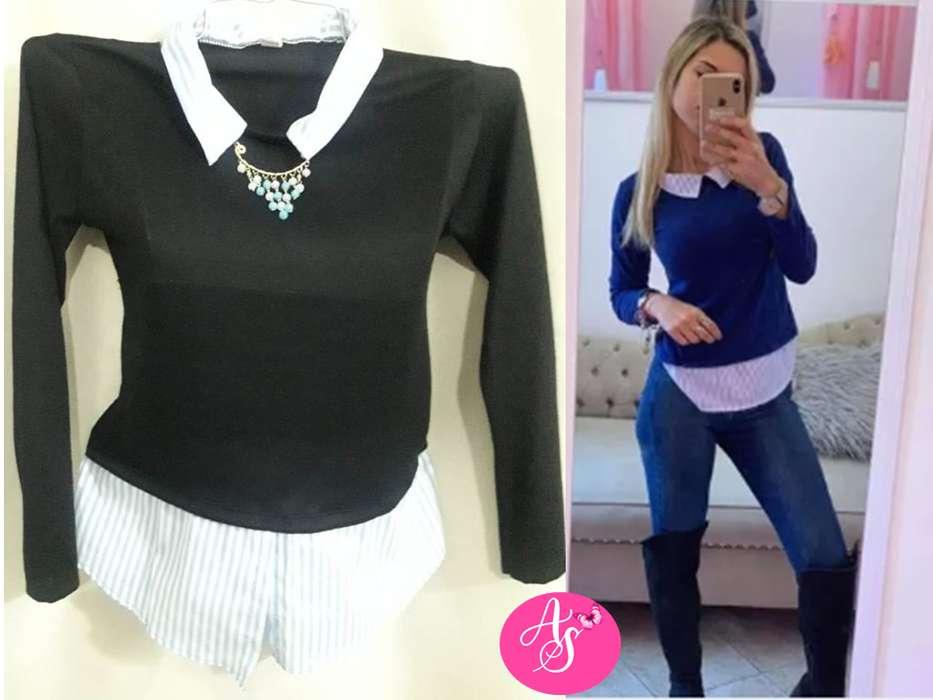 SWEATER LANILLA CON <strong>camisa</strong> LISA