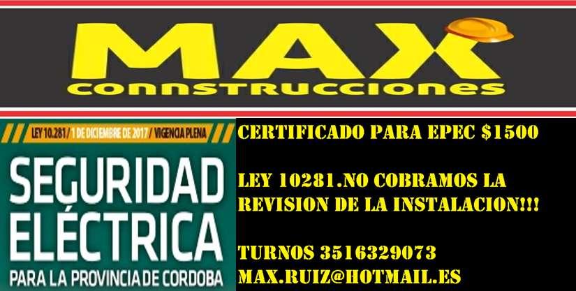Certificado Epec Ersep 2500