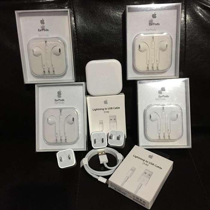Cargador y Audifonos Para Todo iPhone Nuevos Originales y Certificados Apple