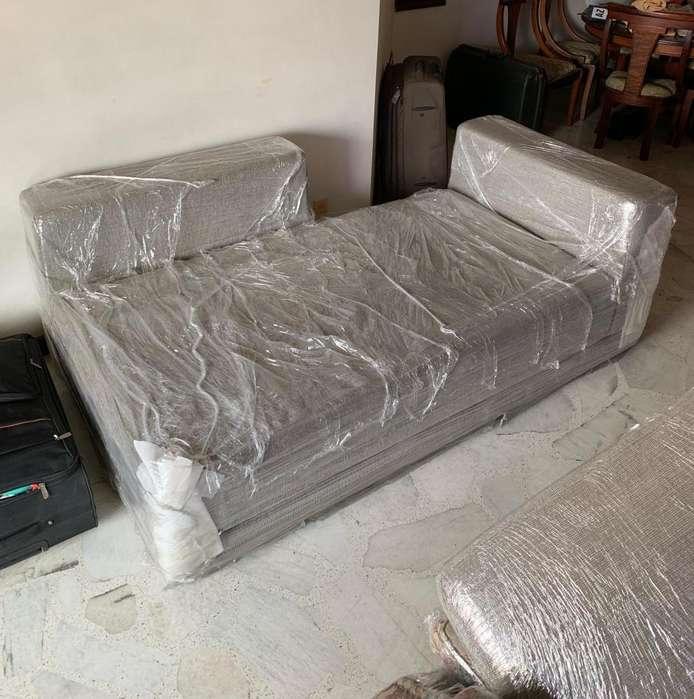 Sofa Chaise Lounge 2 Cojines
