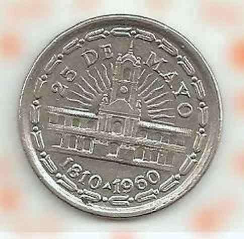 Moneda Conmemorativa 150 aniversario de Revolución de Mayo 1960