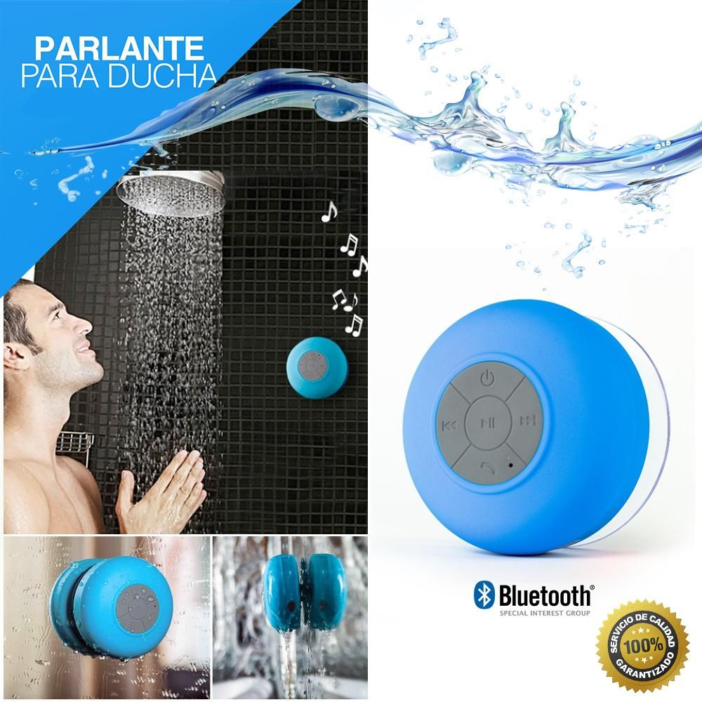 Parlante Bluetooth ducha manos libres waterproof