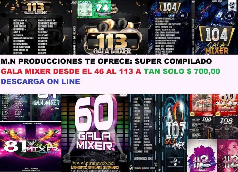 Servicio para Radios y Djs Gala Mixer colección casi completa