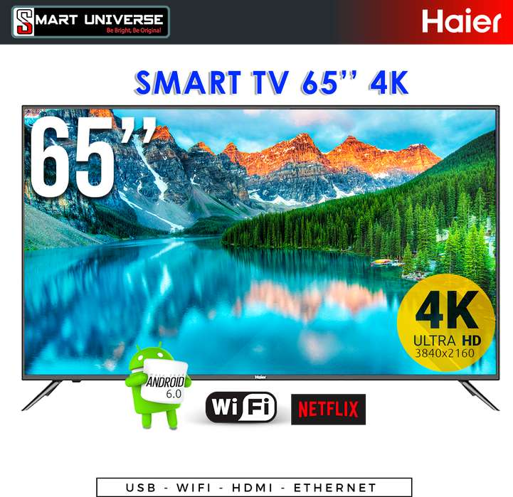 <strong>televisor</strong> Smart 65 Pulg 4K Haier Uhd Wifi Android 6.0