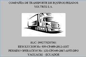 COMPAÑIA DE TRANSPORTE PESADO VOLTRES S.A.