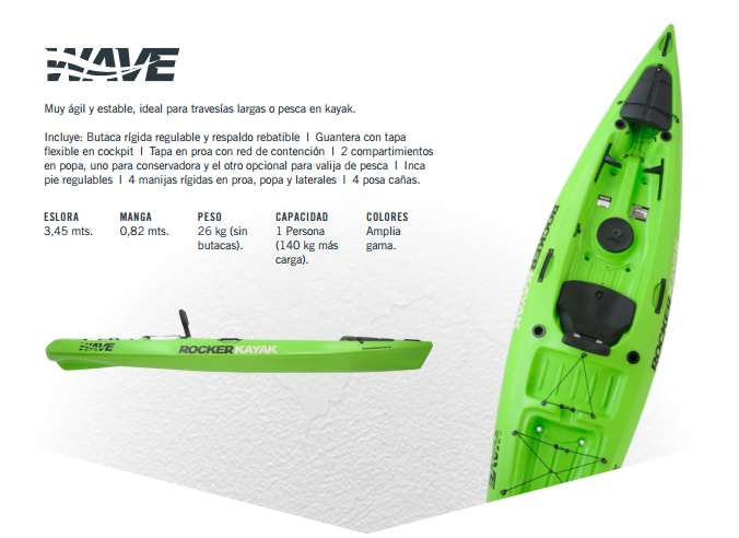 Kayak Rocker Wave PEDERNERA 696 Tel: 3876057829