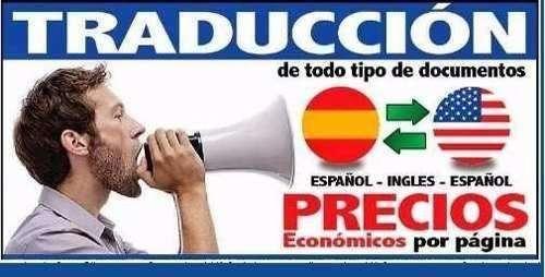 TRADUCCIONES INGLES/ESPANOL. SPANISH/ENGLISH