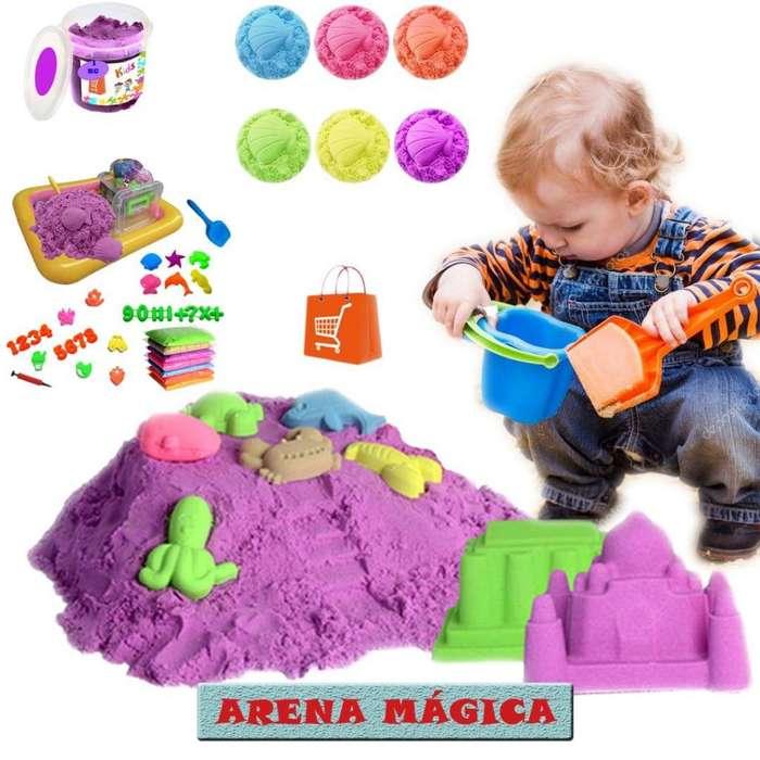 Arena Mágica 1KG EN 10 SUAVE Y MOLDEABLE NIÑOS <strong>juguetes</strong>