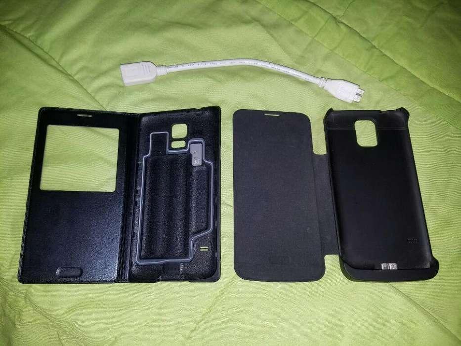 Case Cargador Y Flip Cover Originales S5