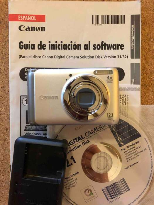 Cámara de fotos digital Cannon 4x 12.1 mega pixels