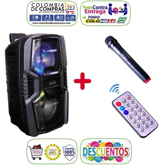 Cabina Sonido Bluetooth Potente 2.500 W Con Microfono Inalambrico y Control Remoto, Nuevas, Garantizadas