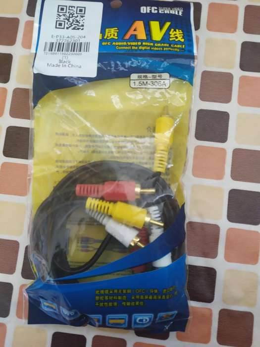 Cable Rca Audio Y Video 1.5m