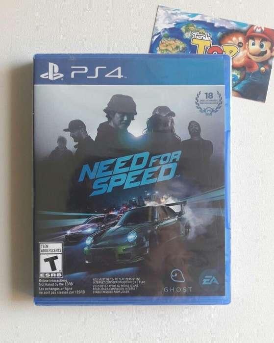 NEED FOR SPEED, PS4 - NUEVO SELLADO, PLAY STATION 4, TIENDATOPMK