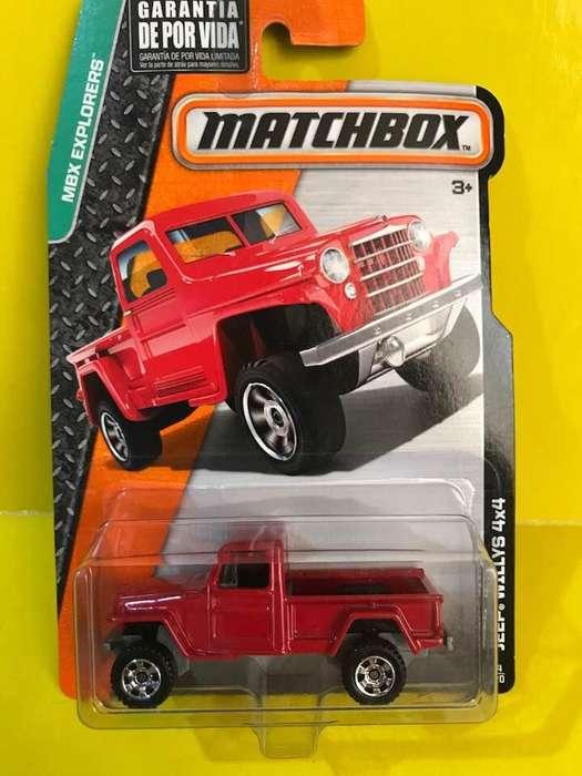 Jeep Willys 4X4 Matchbox Diecast Escala 1/64