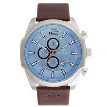 Reloj Aimant Lyon Azul Marrón Plateado