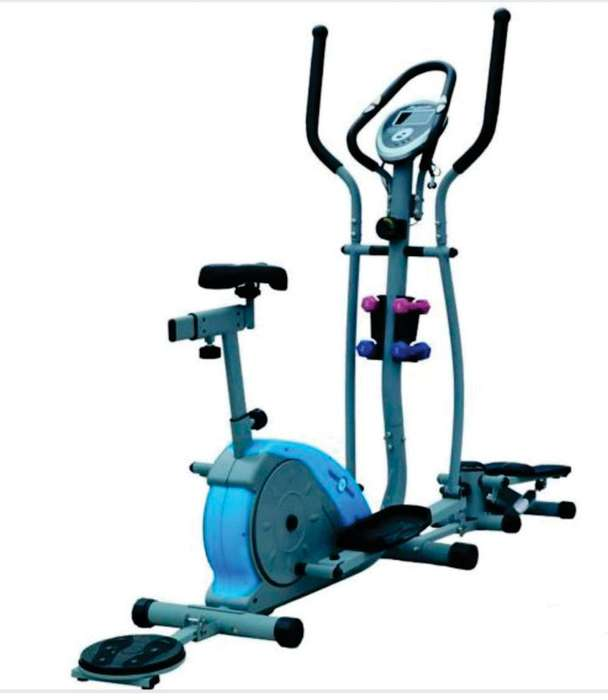 Elíptica S - Combo Magnética Gris y Azul Sport Fitness
