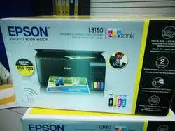 Impresora Epson Ecotank L3150 Multifunción, Wifi