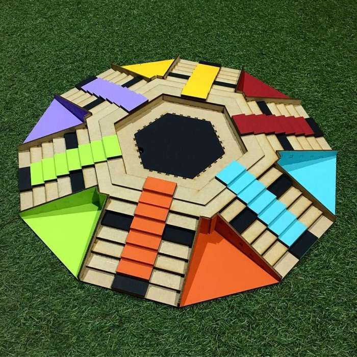 Parques 3D 6 jugadores en madera