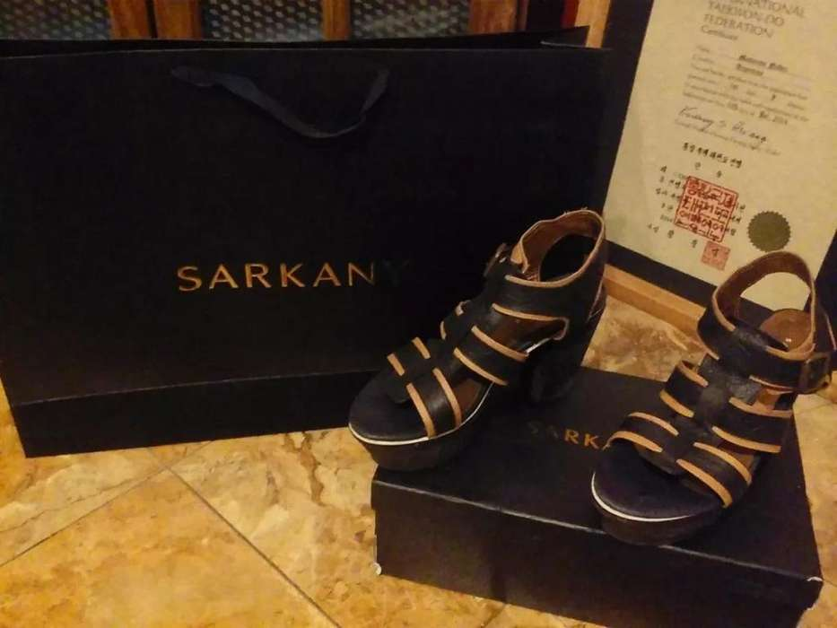 Zapatos Cuero Sarkany Talle 39 Nuevos
