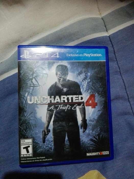 Vendo Uncharted 4, para Play 4