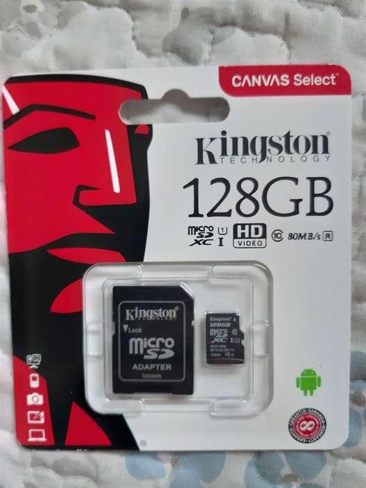MEMORIA KINGSTON 128GB SD, CLASE 10 ORIGINALES