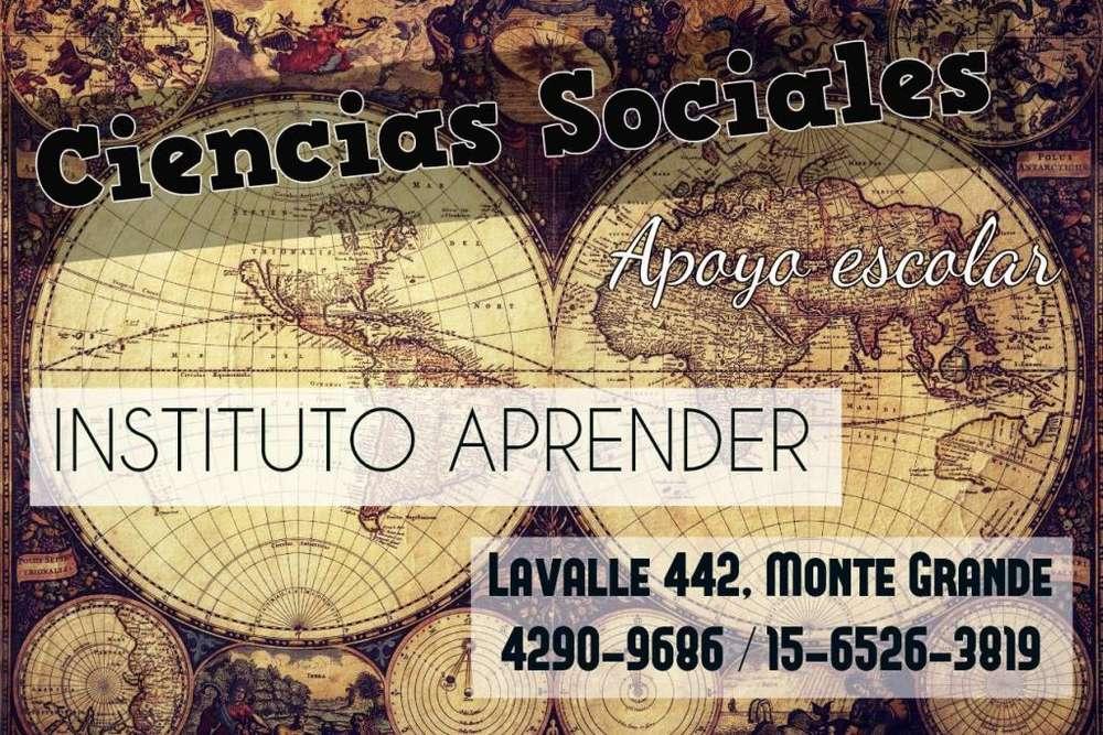 Ciencias Sociales, clases de apoyo en Monte Grande