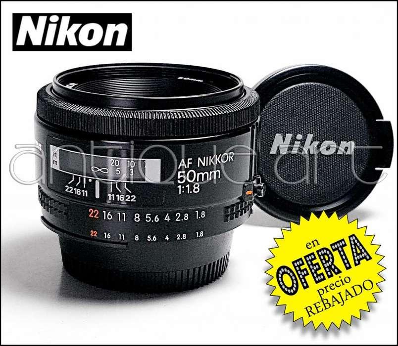 A64 Lente Af Nikkor 50mm 1.8 Foto Video Dsrl Nikon Japan
