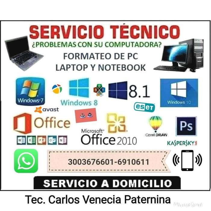 Servicio Técnico Y Mantenimiento de Pc's
