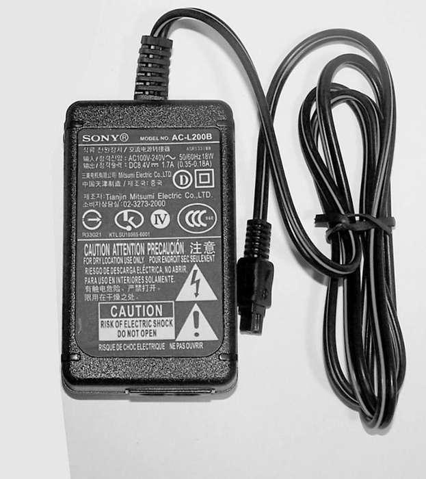 Cargador Sony Original para videocamaras baterías InfoLITHIUM