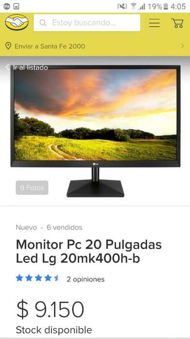 Lg Monitor Led 20 Pulgadas Ultra Fino