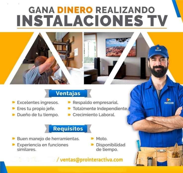 Gana dinero realizando Instaladores TV