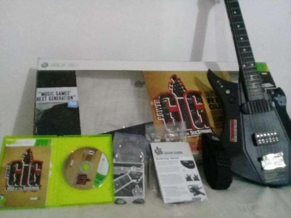 Guitarra Power GIG para XBOX 360 con Juego