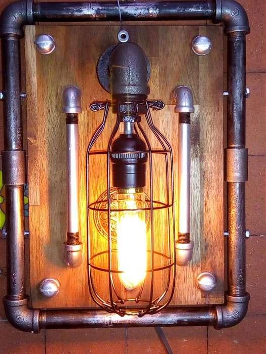 LAMPARA DE PARED TIPO GOTICA BOMBILLO EDISON