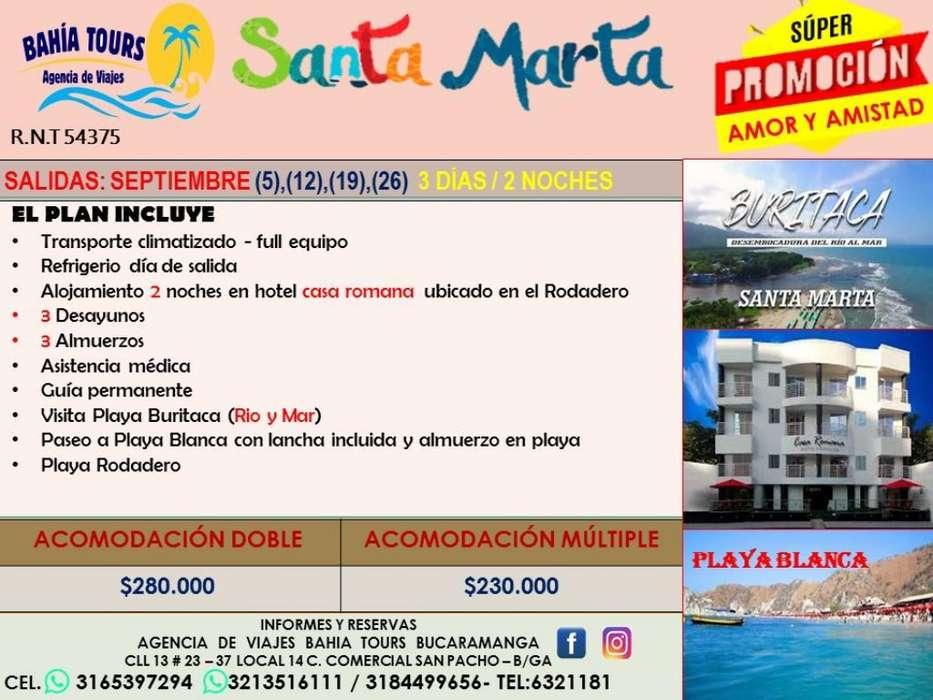 Promocion Tour Santa Marta Amor Y Amista