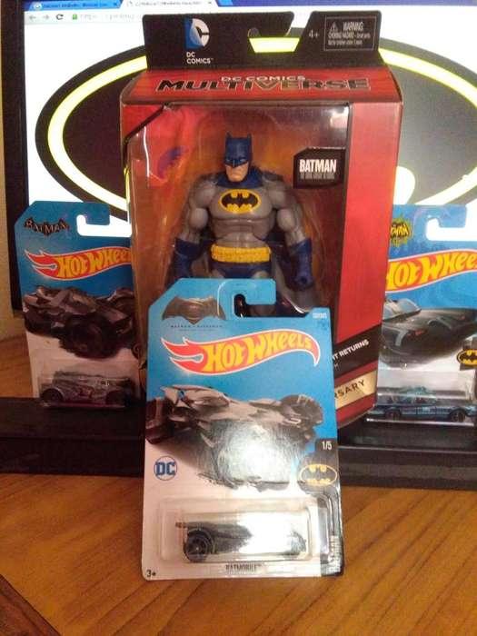 Batman dark knight returns y batimoviles hot wheels