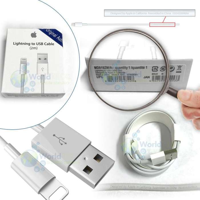 Cable De Datos Usb Iphone 5 5s S 6 6s 7 Plus 8 Plus 2m Origi
