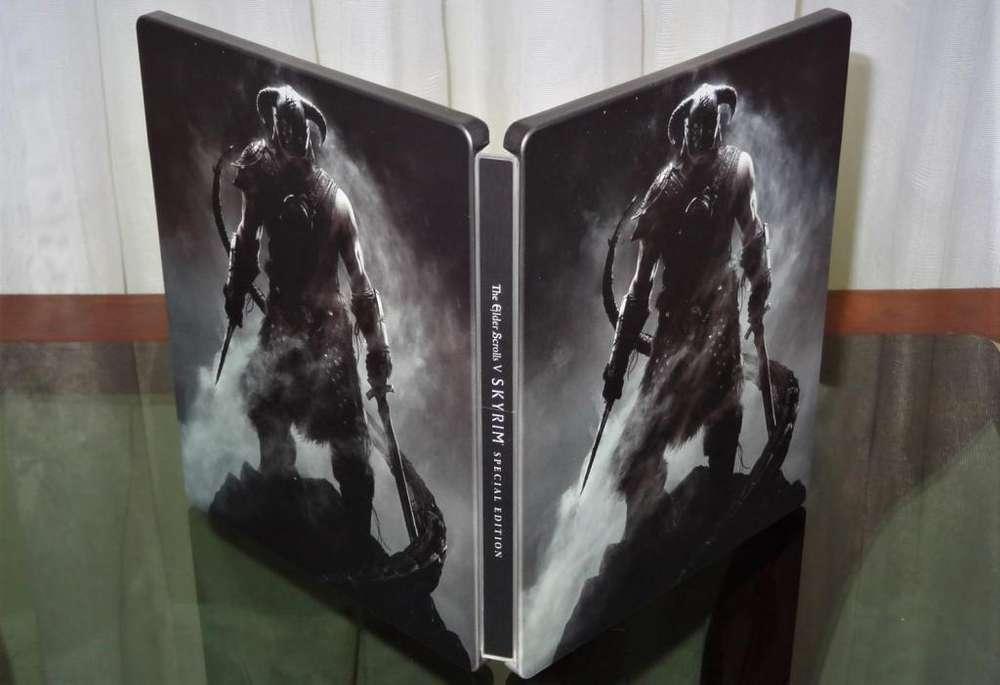 Steelbook Caja metálica de The Elder Scrolls V: Skyrim Juego NO incluido