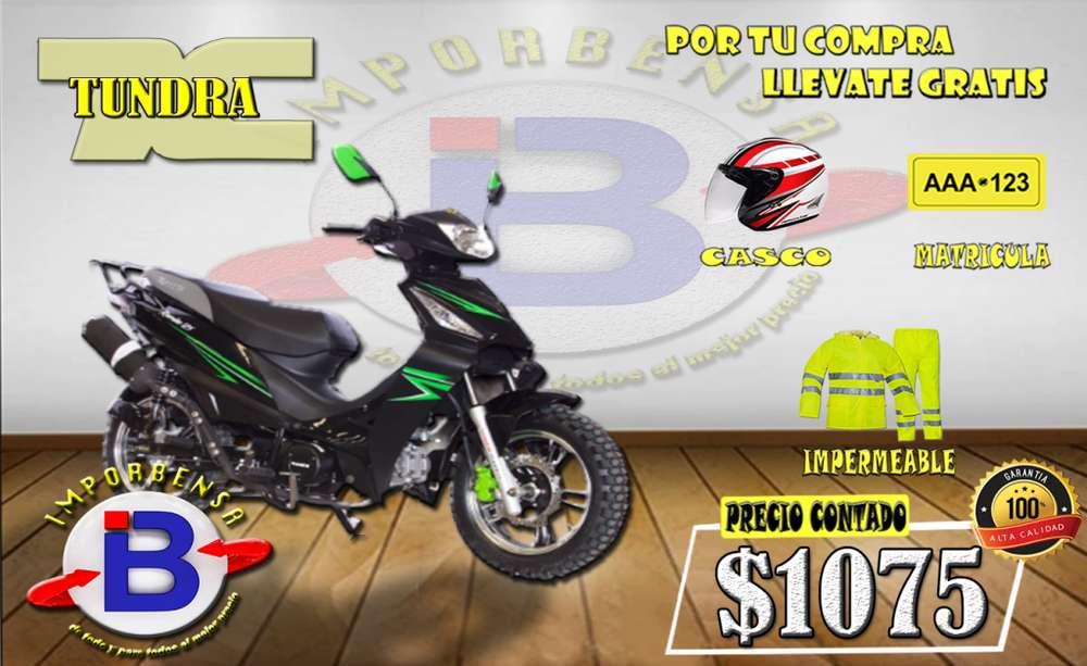 MOTO SANTO DOMINGO//TUNDRA RUMBA-TD-125-<strong>casco</strong>-MATRICULA-IMPERMEABLE GRATIS//IMPORTADORA BENAVIDES