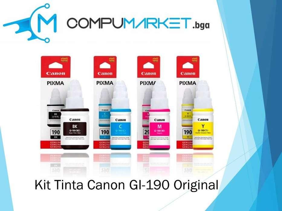 Kit tinta canon GI-190 100% original nuevo y facturado