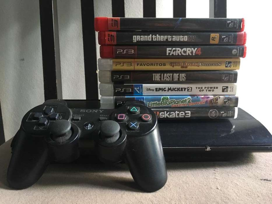 Playstation 3 Usada - 1 Joyst 8 Juegos