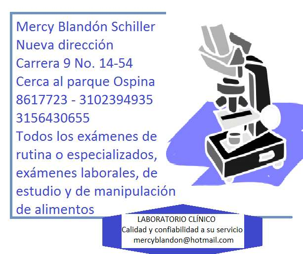 Laboratorio Clínico Dra. Mercy Blandón Schiller. Pruebas de embarazo y todos los exámenes