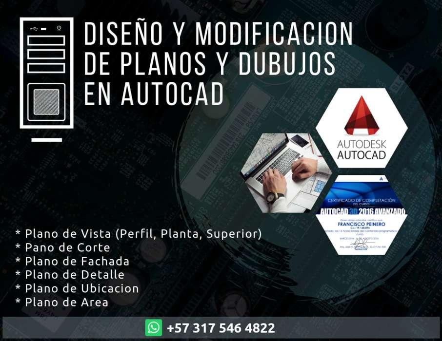 Diseño y Modificacion de planos en AutoCAD