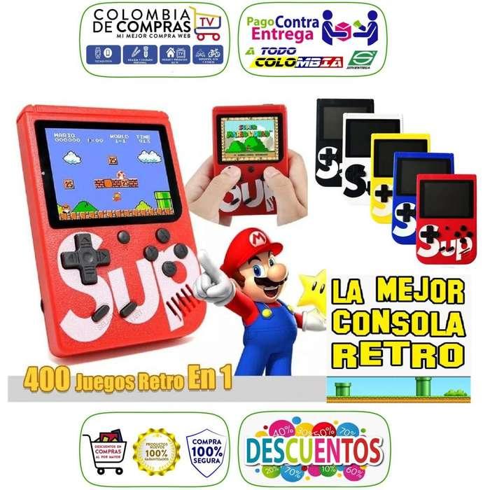 Game Boy Mini Consola Retro Portátil 400 Juegos Play AV, Gameboy Nuevas, Garantizadas