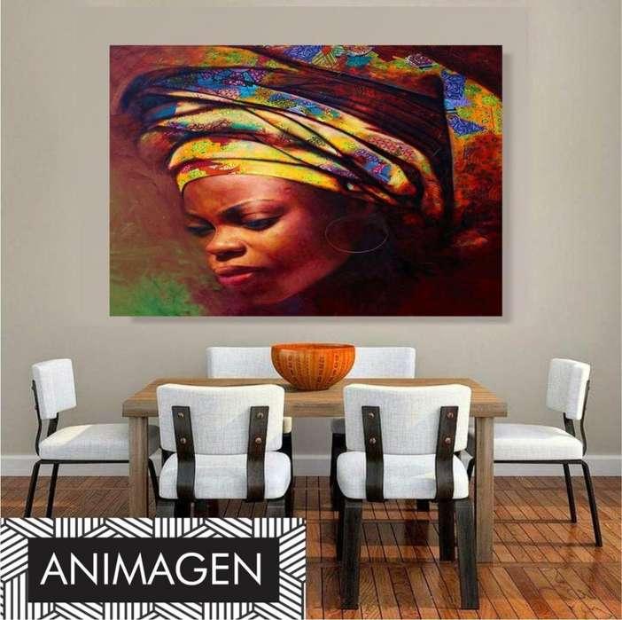 Cuadro decorativo de mujer afro 4199