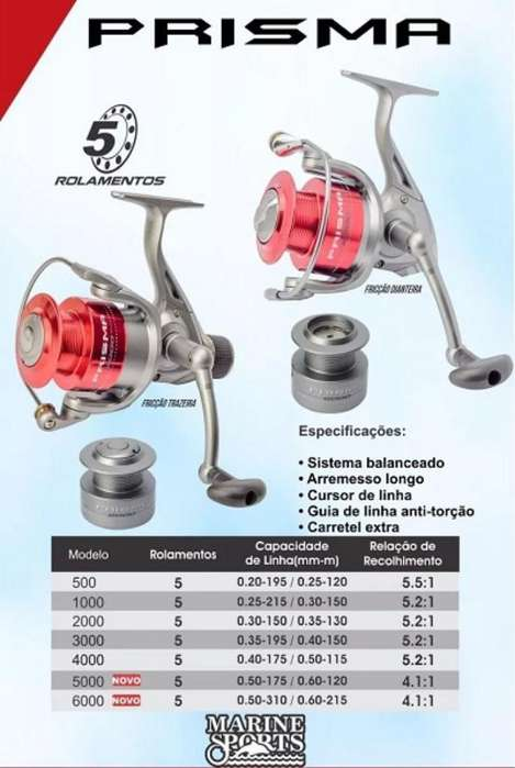 Reel Marine Sport Prisma 5000 Nuevo