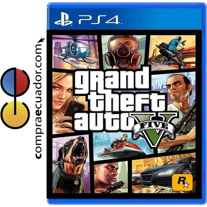 Grand Theft Auto 5 Ps4 V Gta5 Juego Fisico Sellado