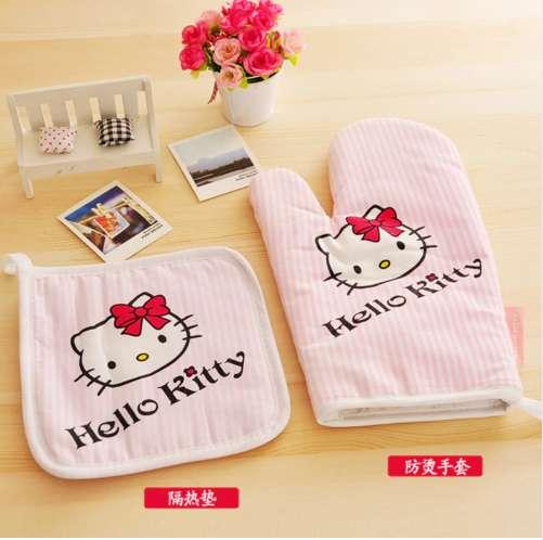 guantes cocina horno hello kitty