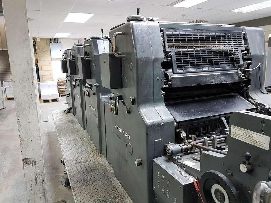 Impresora Heidelberg MOVPS de 4 colores Año 1988.