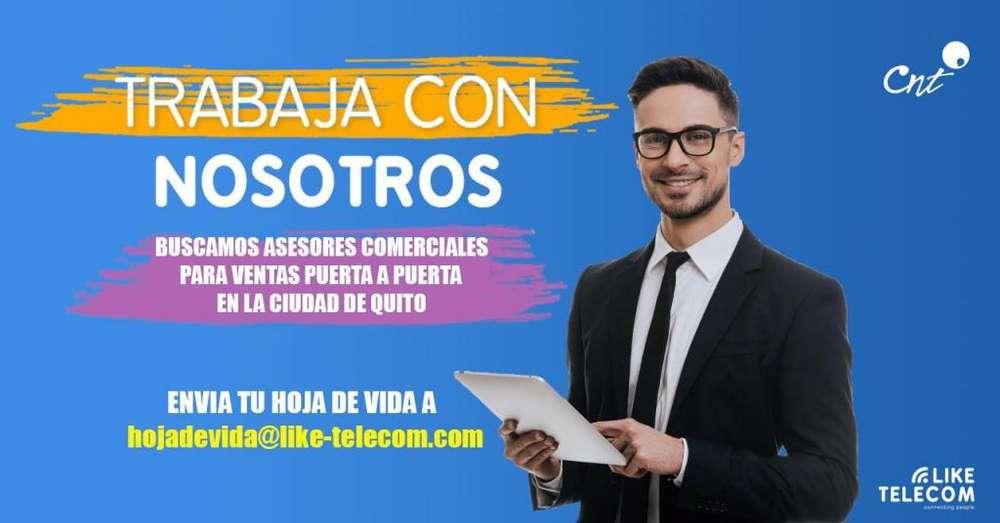 SE REQUIERE ASESORES COMERCIALES PUERTA A PUERTA